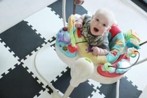Having Fun in the jumperoo